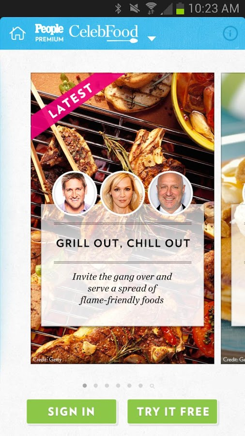PEOPLE CelebFood: Recipes- screenshot
