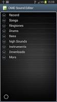 Screenshot of OMD Sound Editor Lite