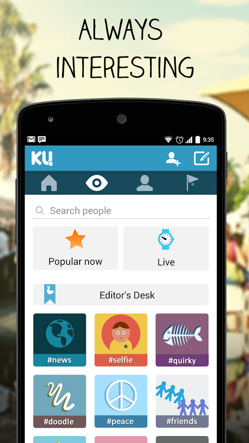 KU - creative social network- screenshot