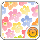 water color blooming Clock icon