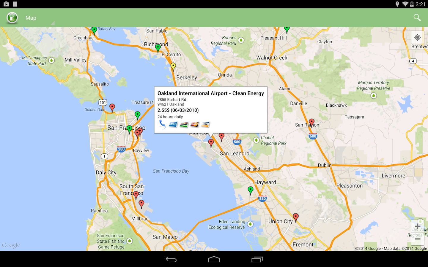 Alternative Fuel Locator USA - screenshot