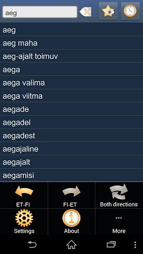 Estonian Finnish dictionary +