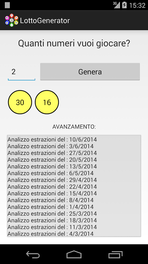 Lotto Generator- screenshot