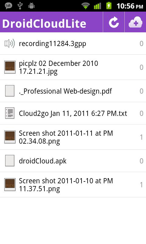 DroidCloud - Lite - screenshot