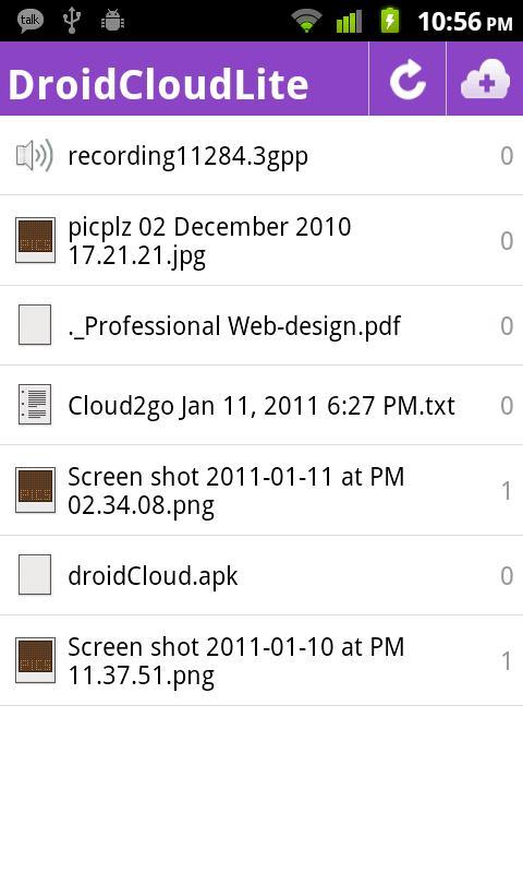DroidCloud - Lite - screenshot
