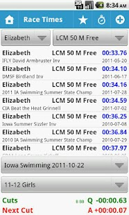 MySwimmingTimes - screenshot thumbnail