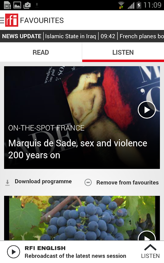 RFI - screenshot