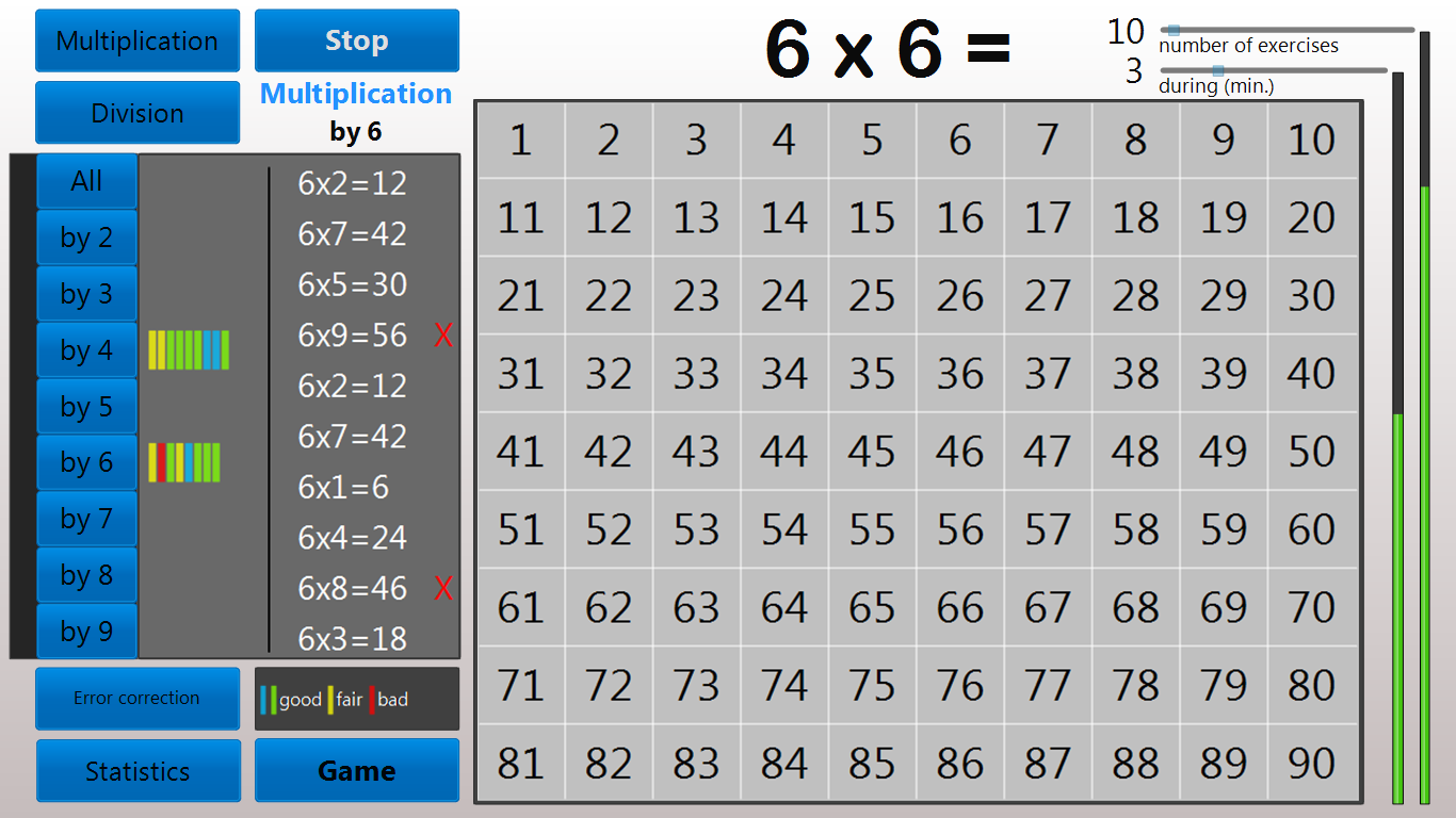 Multiplication tables trainer android apps on google play multiplication tables trainer screenshot gamestrikefo Image collections