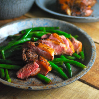 Seared Duck Breast and Balsamic Green Beans