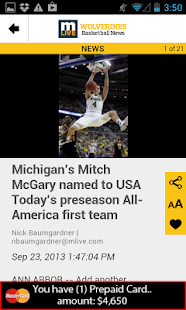 MLive.com: Michigan Hoops News - screenshot thumbnail