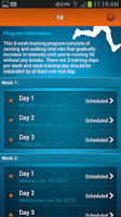 Screenshot of PERSONAL RUNNING TRAINER