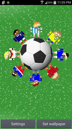 世界のサッカーロボットの背景
