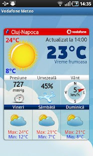 Vodafone Meteo - screenshot thumbnail