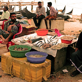 Another day in the Fish Market  by Seema Nair - People Professional People ( market, fish, vendors, fish market, people, Travel, People, Lifestyle, Culture )