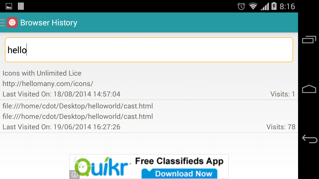 Browser History Android Apps On Google Play