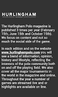 Screenshot of Hurlingham Polo magazine