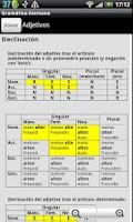 Screenshot of Gramatica Alemana DEMO