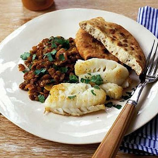 Fish with Spiced Lentils Recipe