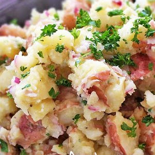 Horseradish Spiked Red Bliss Potato Salad.