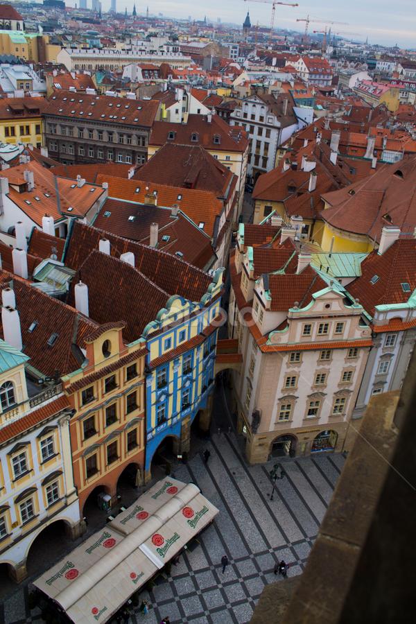 Colored world by Andrea Rossi - City,  Street & Park  Vistas ( astronomical, tower, clock, vista, square, praga, praha, prague, panorama, plaza )