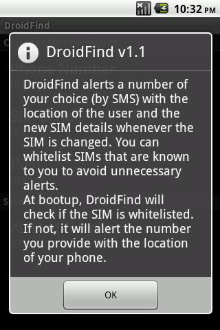 DroidFind - screenshot
