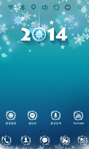 【免費個人化App】HAPPY 2014 런처플래닛 테마-APP點子