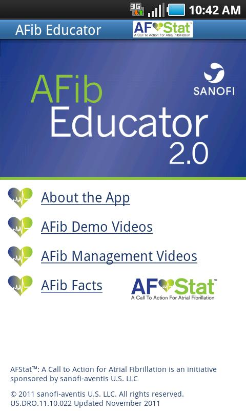 AFibEducator - screenshot