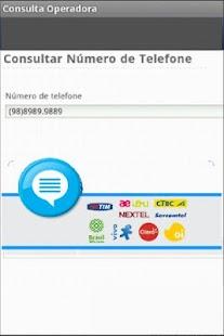 Consulta Operadora Celular- screenshot thumbnail