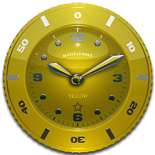 Clock Widget Yellow Star