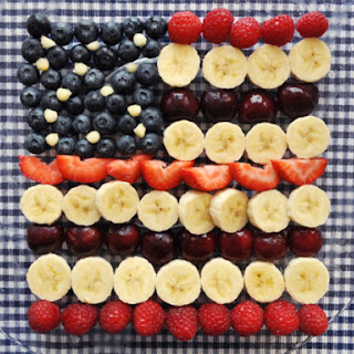 American Flag Fruit Salad