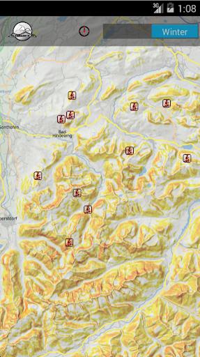 ALLGÄU Skitourenkarte