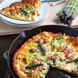 Asparagus and Double Smoked Bacon Popover.