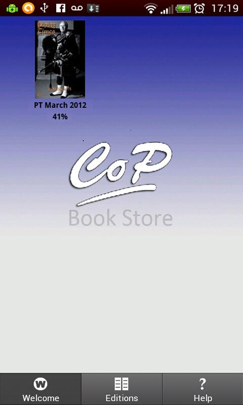 CoP Bookstore- screenshot