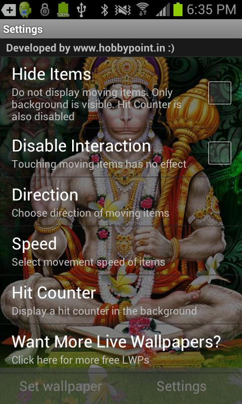 Jai HANUMAN HQ Live Wallpaper - screenshot