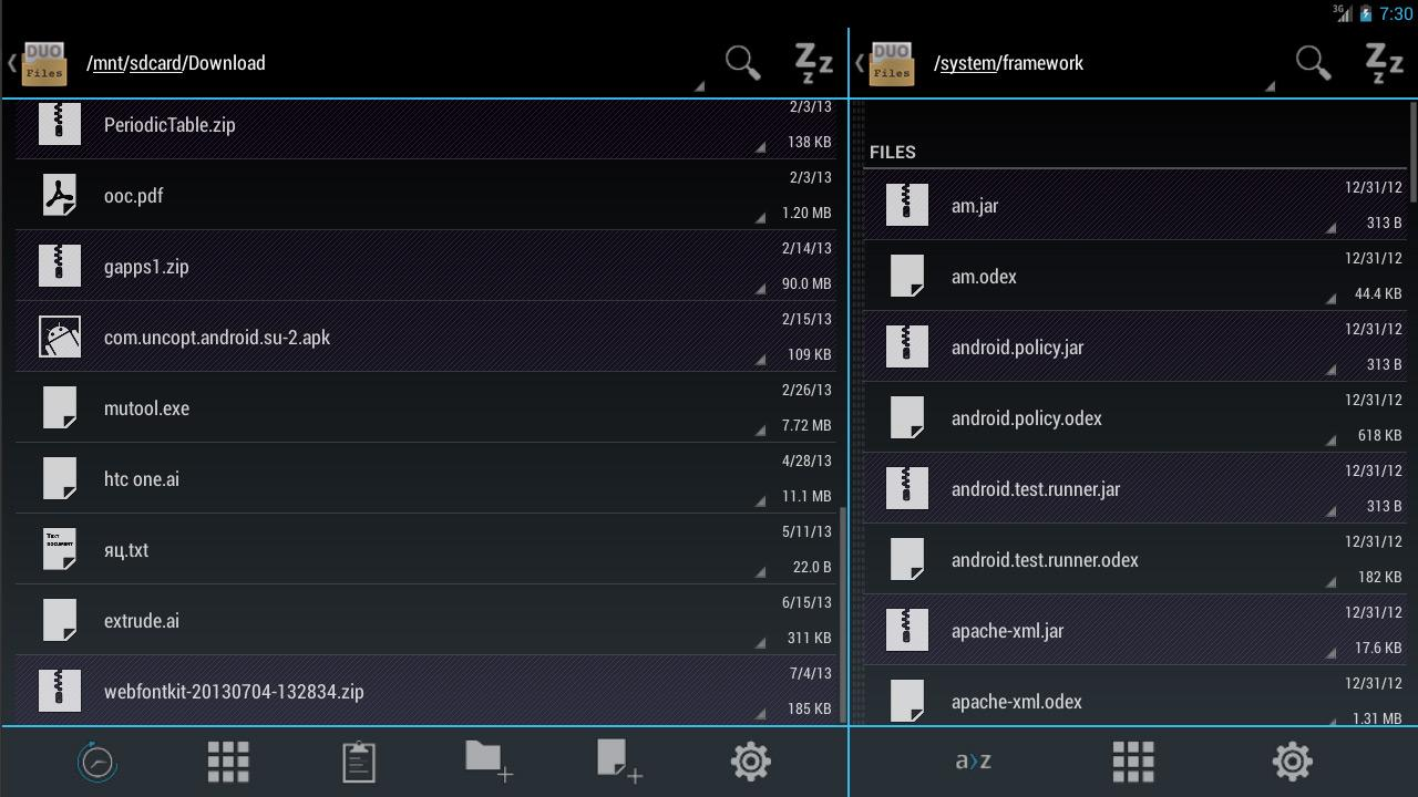 Duo: Holo File Manager Pro- screenshot