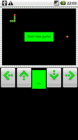 Screenshot of classic snake game
