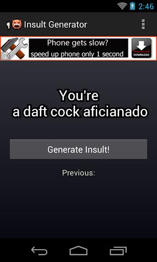 Hilarious Insult Generator