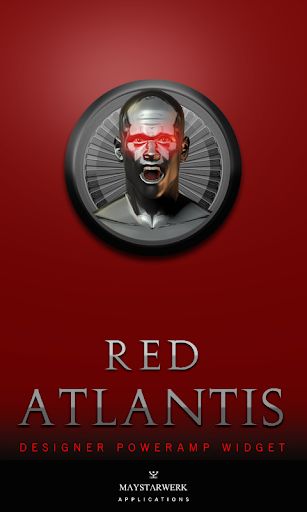 Poweramp Widget Red Atlantis
