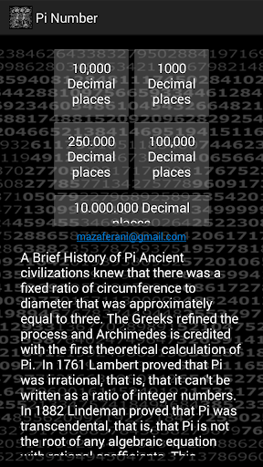 PI Number 10.000.000 Digits