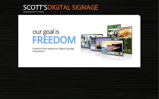 Screenshot of Scott's Digital Signage Player