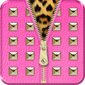 ◘Hot Pink Studded Lock Screen◘