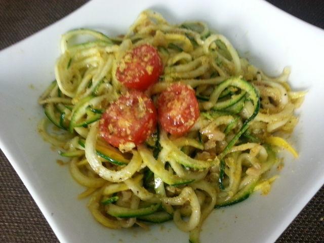 SUGAR - FREE Simply Zucchini Noodles Recipe