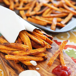 Crispy Baked Sweet Potato Fries.