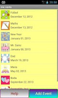 Screenshot of Birthdays and more Events