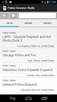 Screenshot of Police Scanner Radio