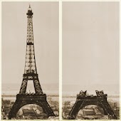 Eiffel Tower battery widget
