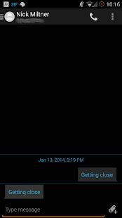 Evolve SMS - Dark Holo Theme - screenshot thumbnail