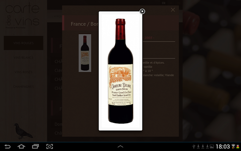 Carte des vins- screenshot thumbnail