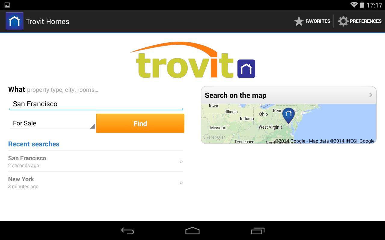 Real Estate sale & rent Trovit - screenshot
