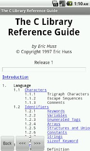 C Programming Reference FREE - screenshot thumbnail